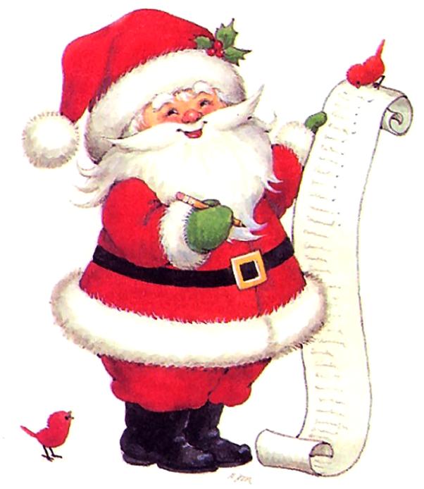 Новогодние открытки для санта клауса