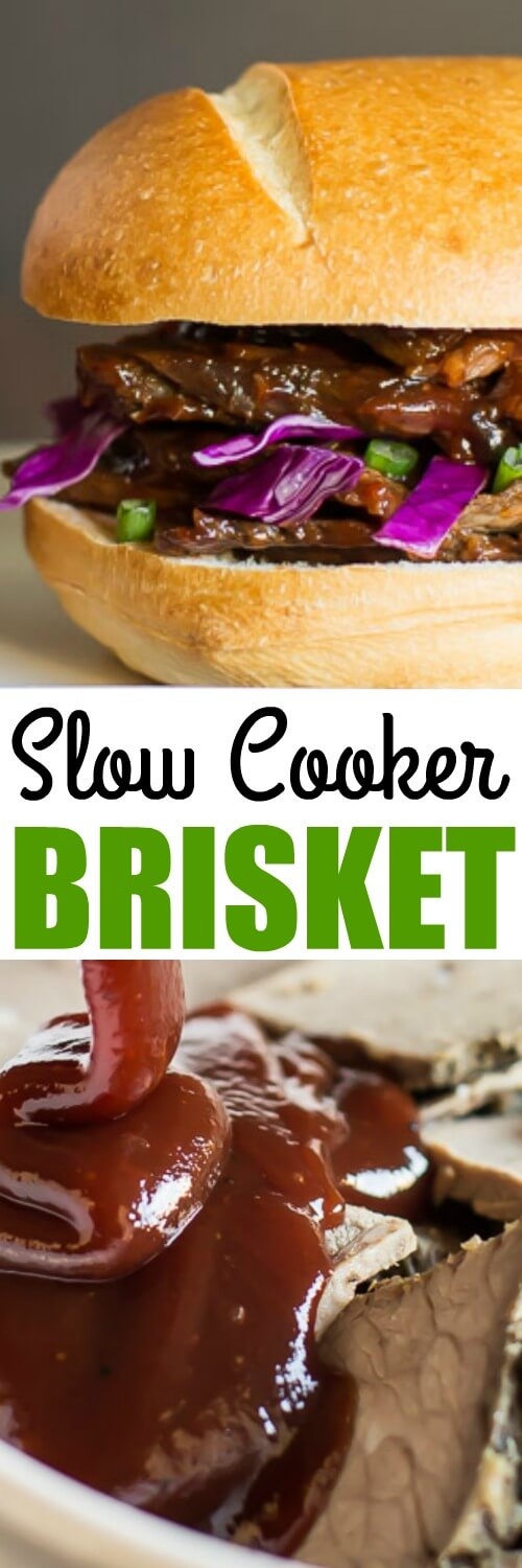 It takes 3 days to make this Slow Cooker Beef Brisket, but it's only 20 minutes of hands on time! It's the ultimate make-ahead meal for dinner and parties.
