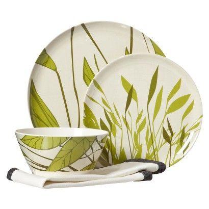Target  Breeze 12-pc. Melamine (Plastic) Dinnerware Set Great for the  sc 1 st  Pinterest & Target : Breeze 12-pc. Melamine (Plastic) Dinnerware Set Great for ...