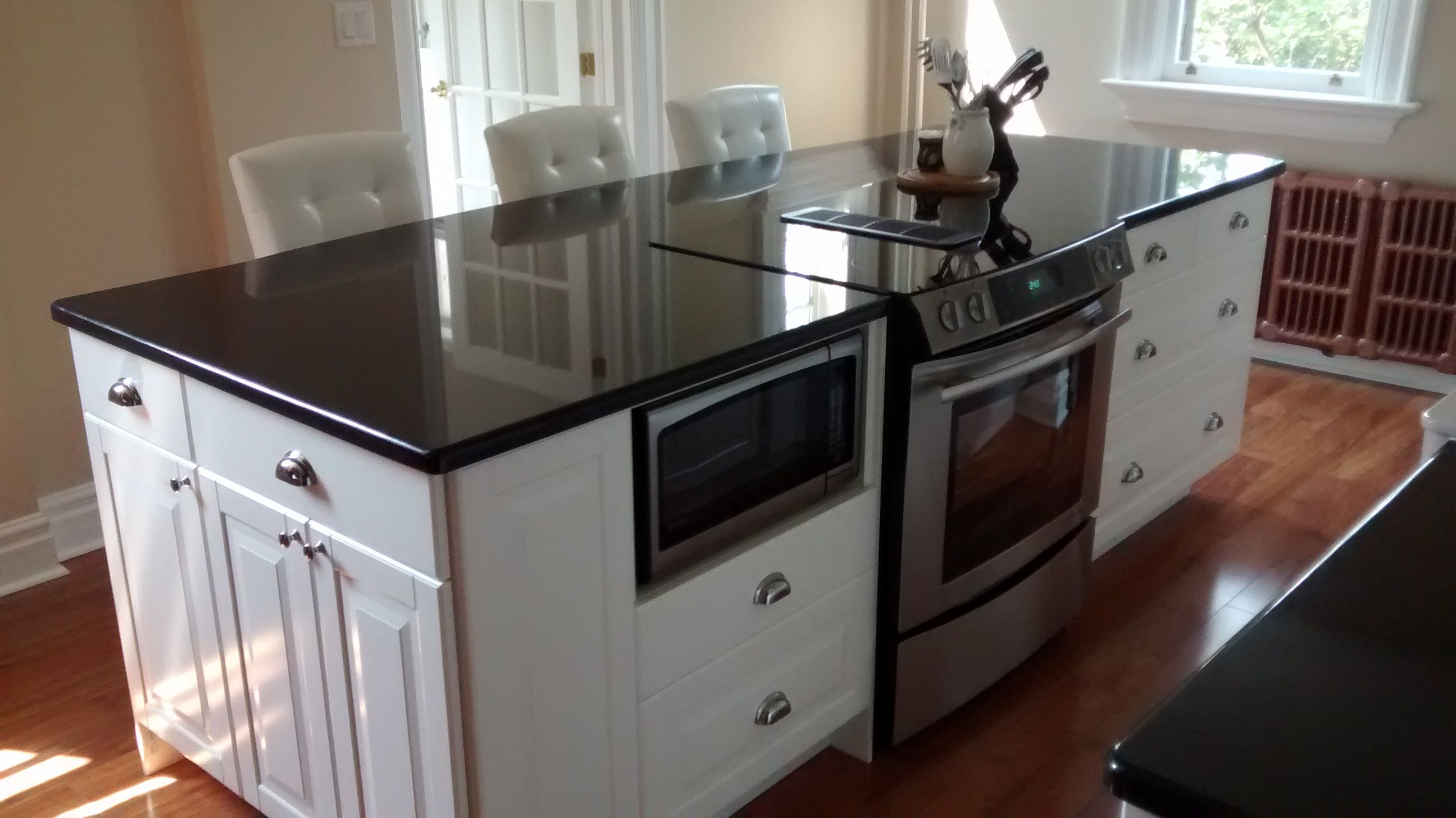 Large Kitchen Island With Great Built In Storage As Well As