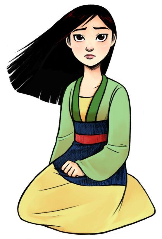 Triste Mulan Mulan Princesse Disney Dessin Animé Et