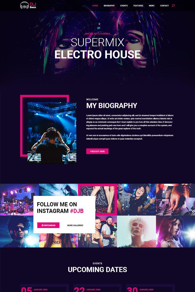Bazz DJ PSD Template 81387 (With images) Psd templates