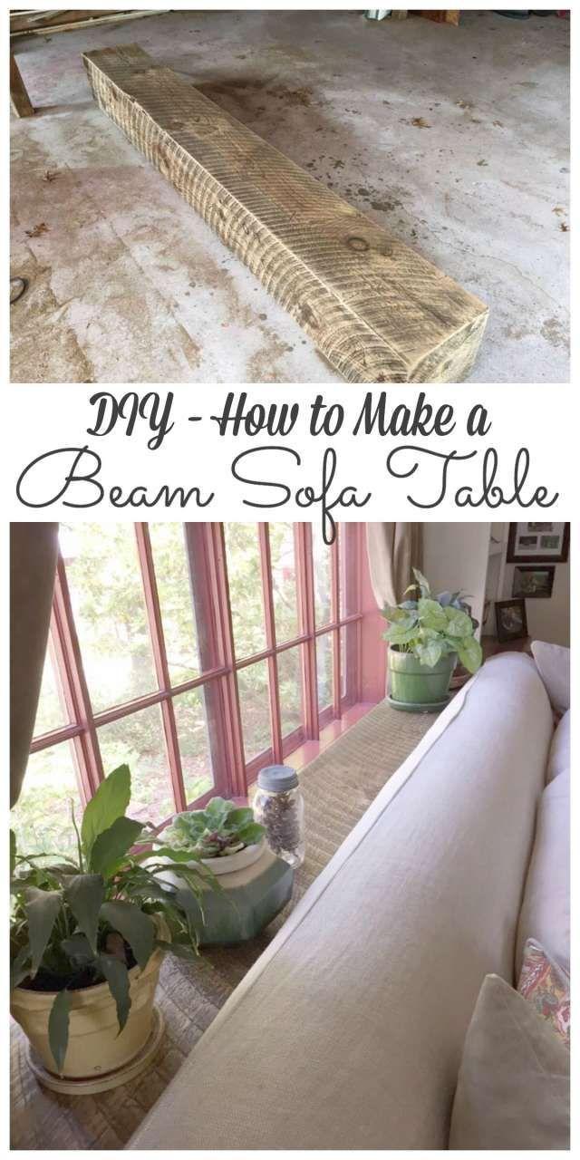 Make sofa table - Beam Sofa Table Diy