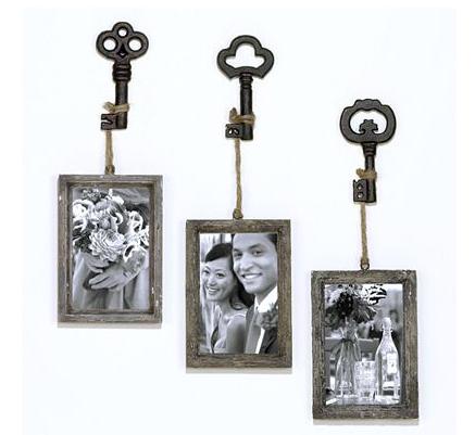 Vintage key frame - set of 3 from World Market. $23 | DIY ...