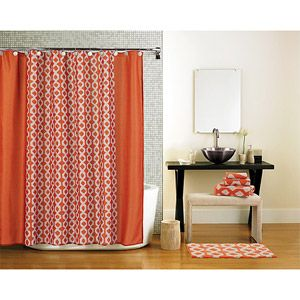 Geometric Orange Shower Curtain Walmart 1697