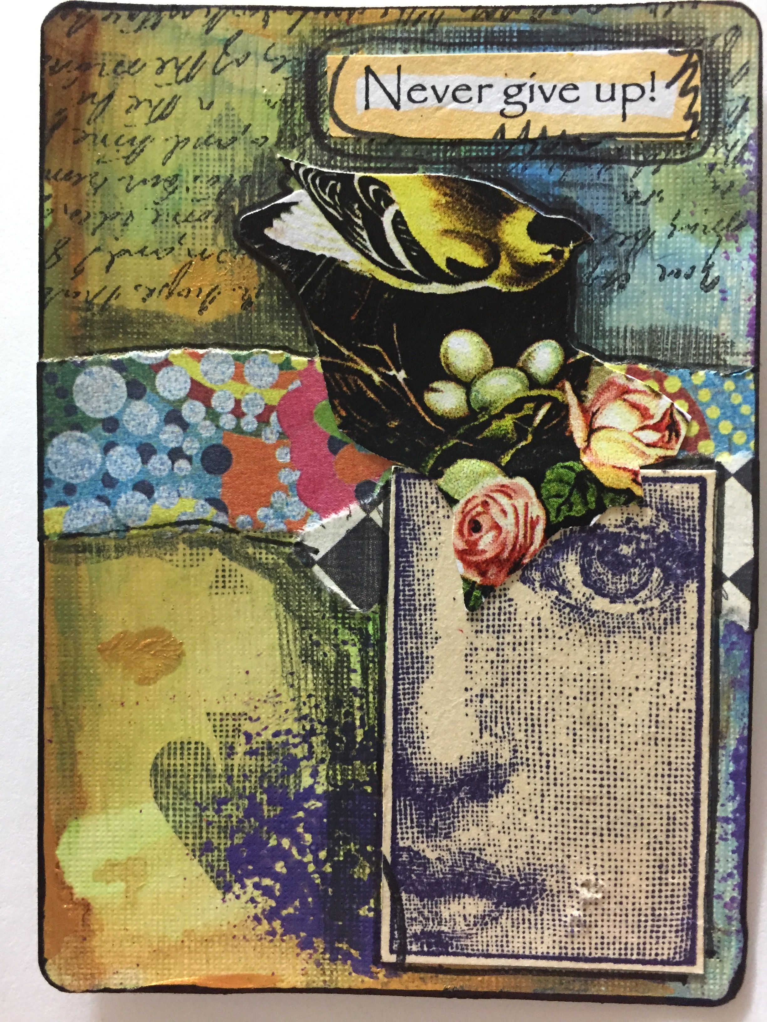 Atc by kim collister card art artist trading cards