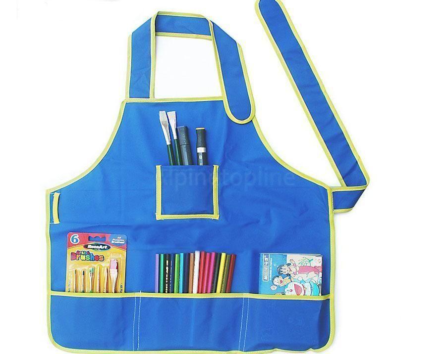 Children Kids Waterproof Apron School Play Smock Painting Drawing Art Craft Baby