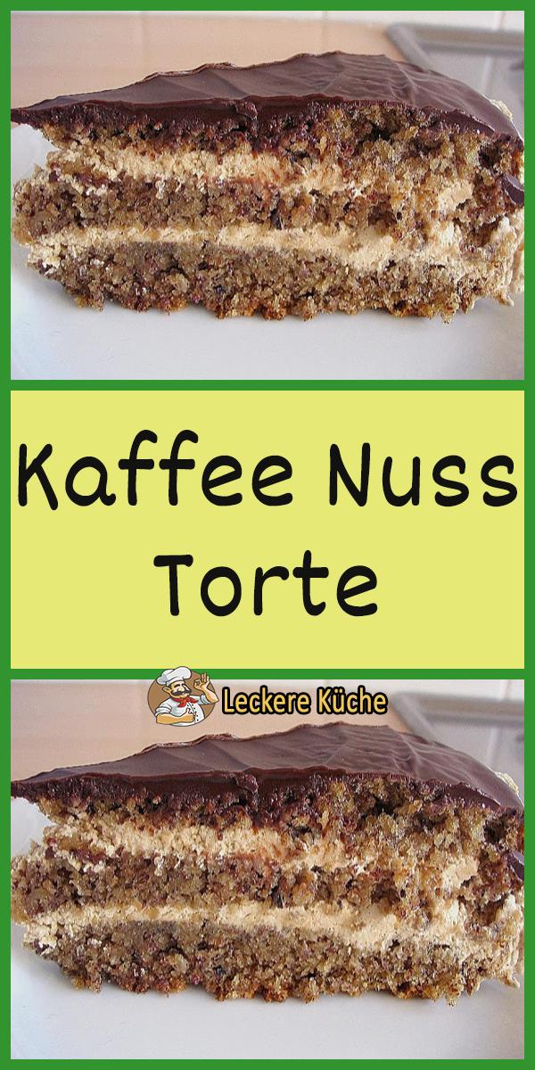 Kaffee Nuss Torte - #Kaffee #Nuss #porzellan #Torte