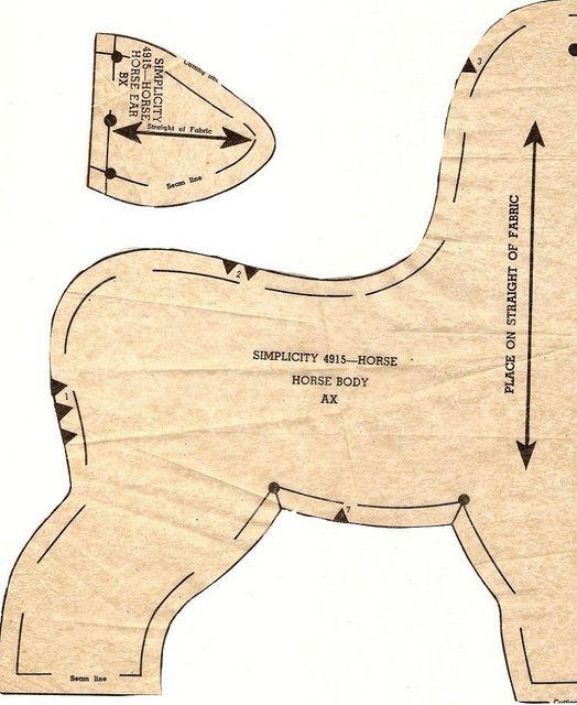 Stuffed Horse Pattern : stuffed, horse, pattern, Retro, Plush, Horse, Pattern1, Horse,, Animal, Sewing, Patterns,, Quilt