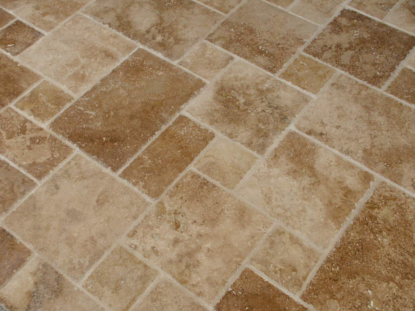 Noce French Pattern Distressed Edge Travertine Tile Mediterranean Products New York Elegant And Stone