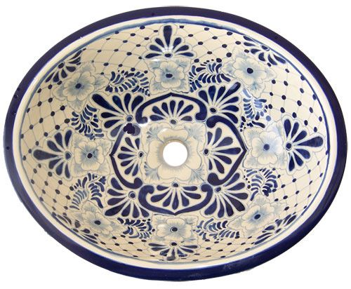 Mexican Handcrafted Ceramic Sink Blue