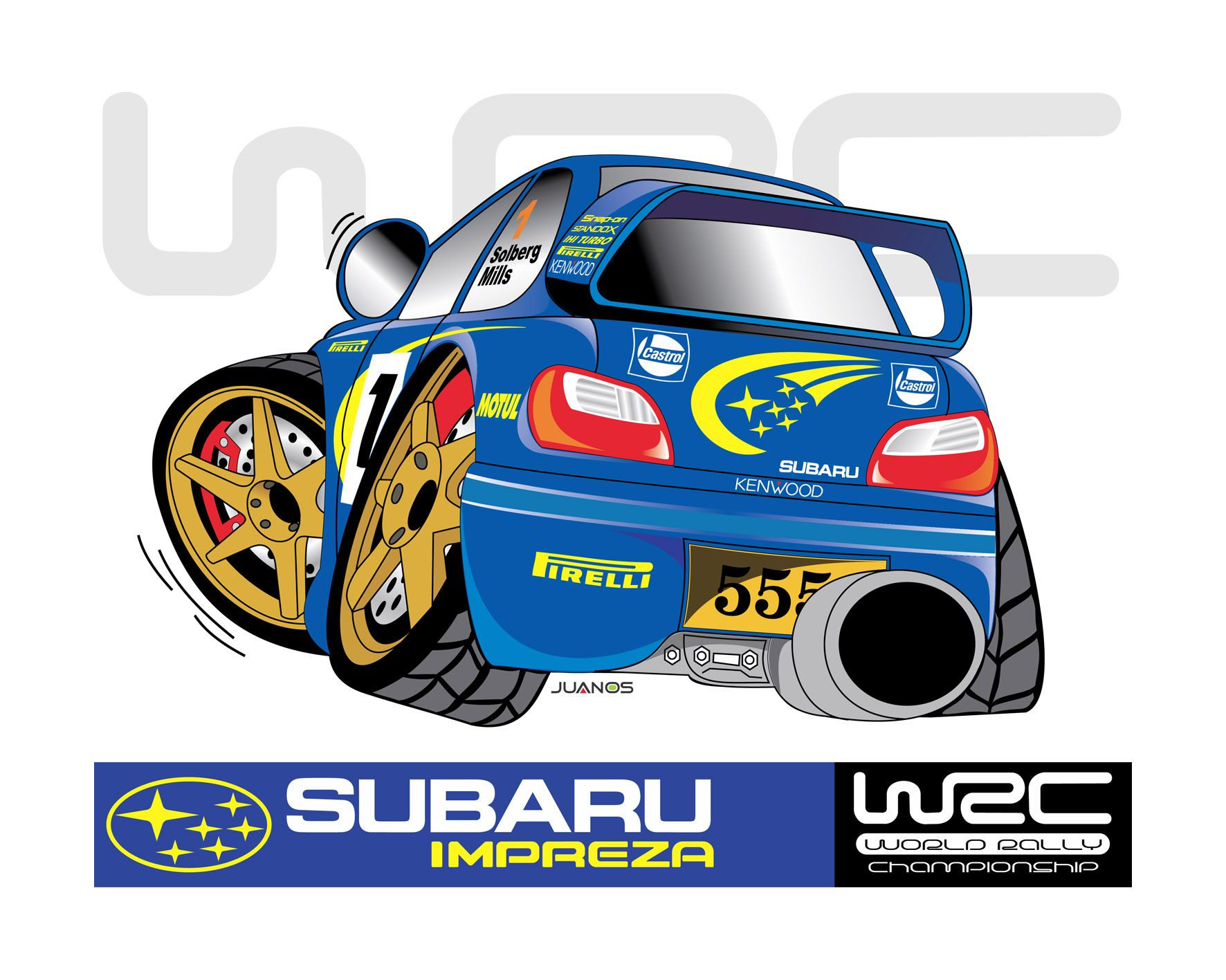 Scooby Doo Subaru WRX Impreza STI WRX WRC Scooby Turbo JDM Funny Car Decal