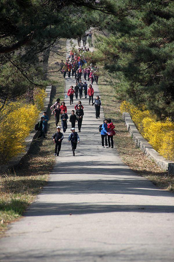 봄을 맞이한 모란봉의 풍경 (1)-1