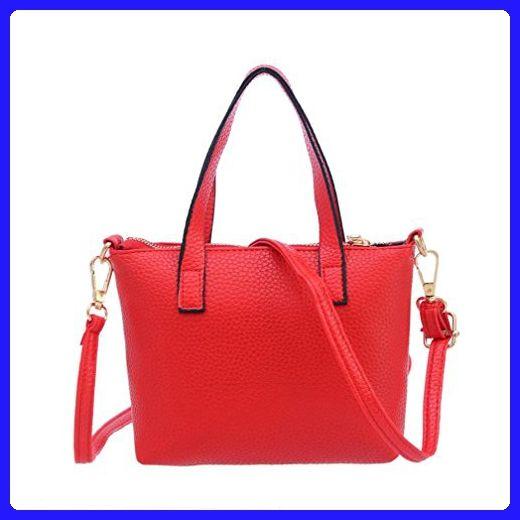 Luweki Women Solid PU Leather Fashion Handbag Shoulder Bag Tote Purse  (203.515cm 193c6bdfec6de