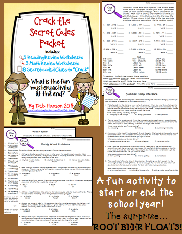 Back To School Mystery Activity Crack The Codes On 8 Review