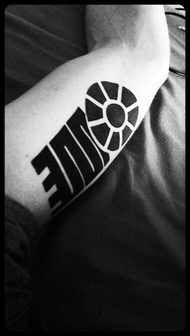Solid minimalistic tattoo