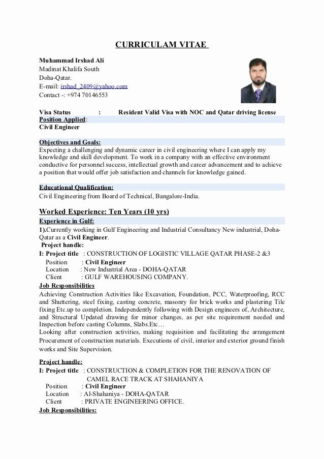 Civil Engineer Resume Examples Best Of Civil Engineer Engineering Resume Engineering Resume Templates Civil Engineer Resume