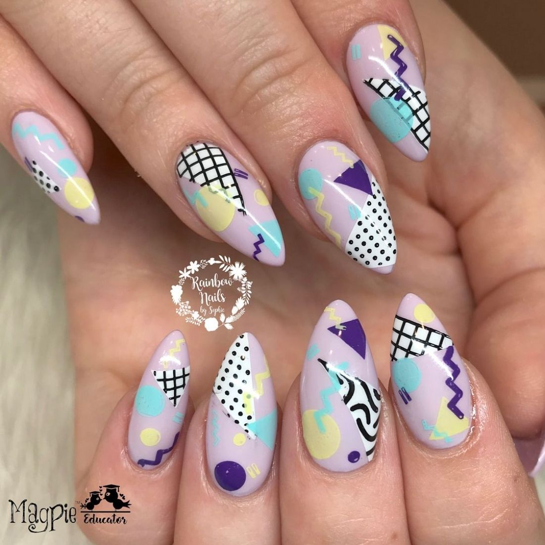 80s 80s Nails Rainbow Nails Nails Throughout 80 S Nail Art Designs Fashion Style Ideas In 2020 Retro Nails 80s Nails 90s Nails
