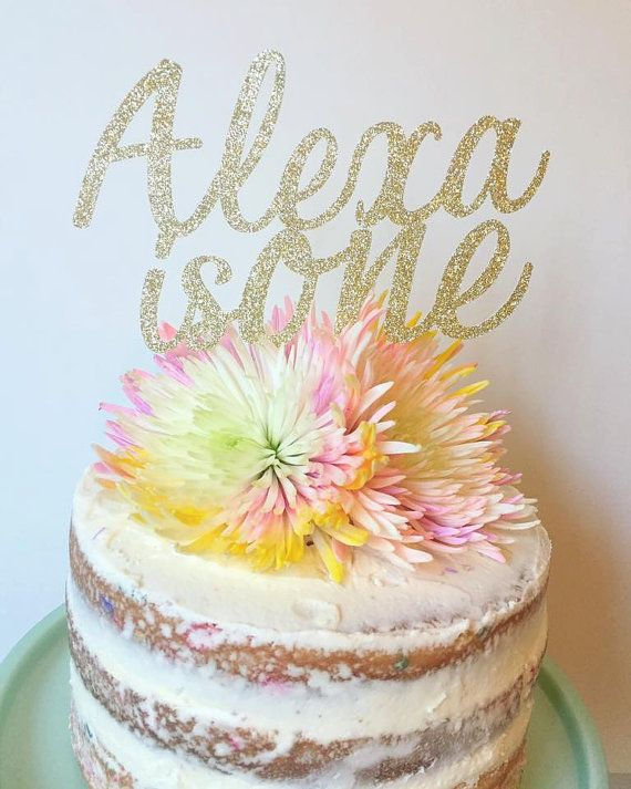 Personalized Name Birthday Cake Topper First By TheLittlePopShop