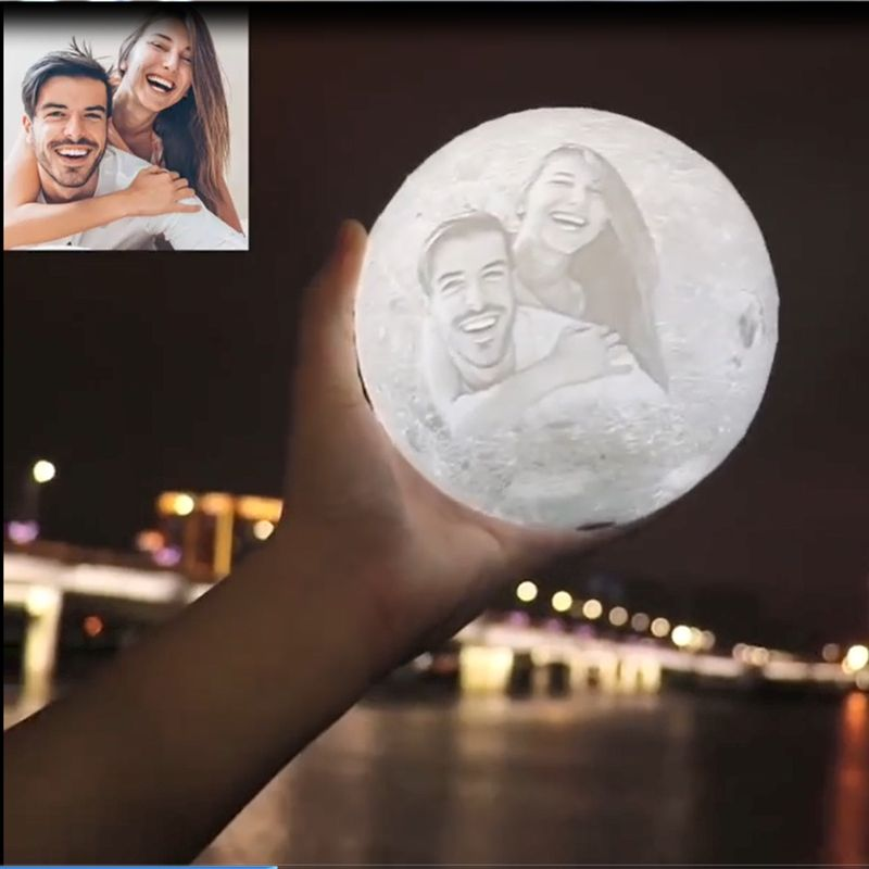 Magical Love You To The Moon And Back Luna Moon Lamp Features Love Wordings Photos Engraving On An Elegant 3d Moon Night Lamp B