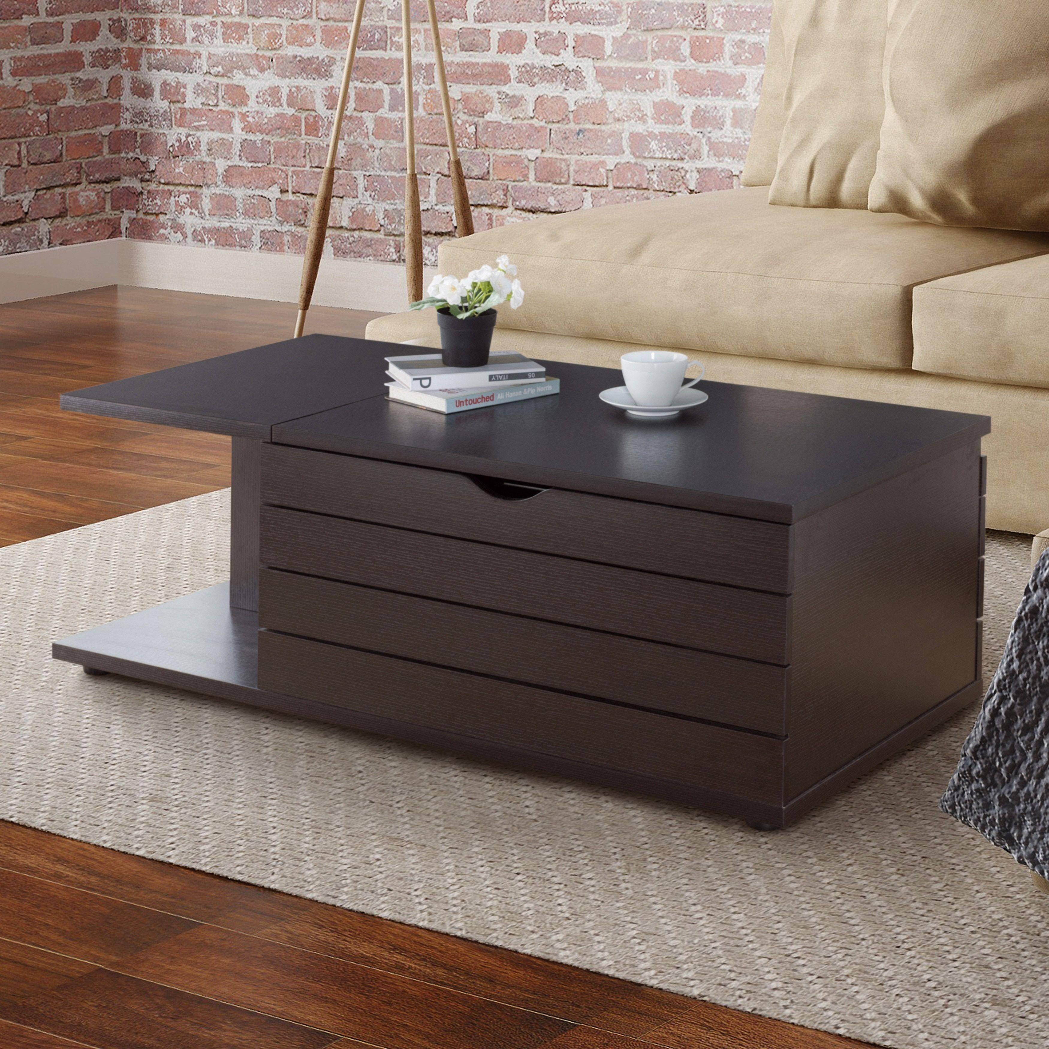 Furniture of America Topson Multi Storage Slide Top Cappuccino
