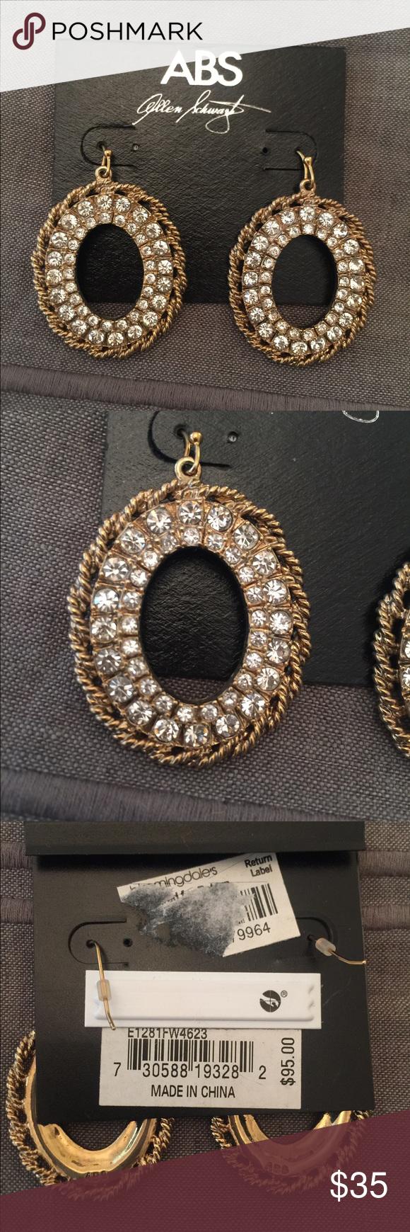 ABS Allen Schwartz Earrings Never worn. Paid $95 Steve Madden Jewelry Earrings