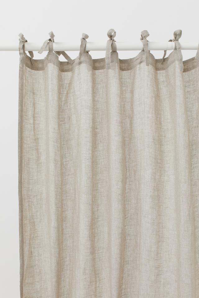Heavy Linen Curtain Panels