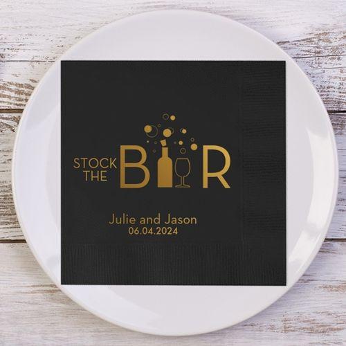 Stock The Bar Personalized Wedding Napkins Reception