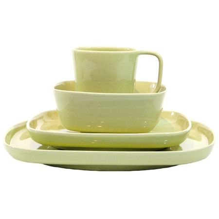 I pinned this 16 Piece Karo Dinnerware Set in Celery from the A Place at the Table event at Joss and Main!