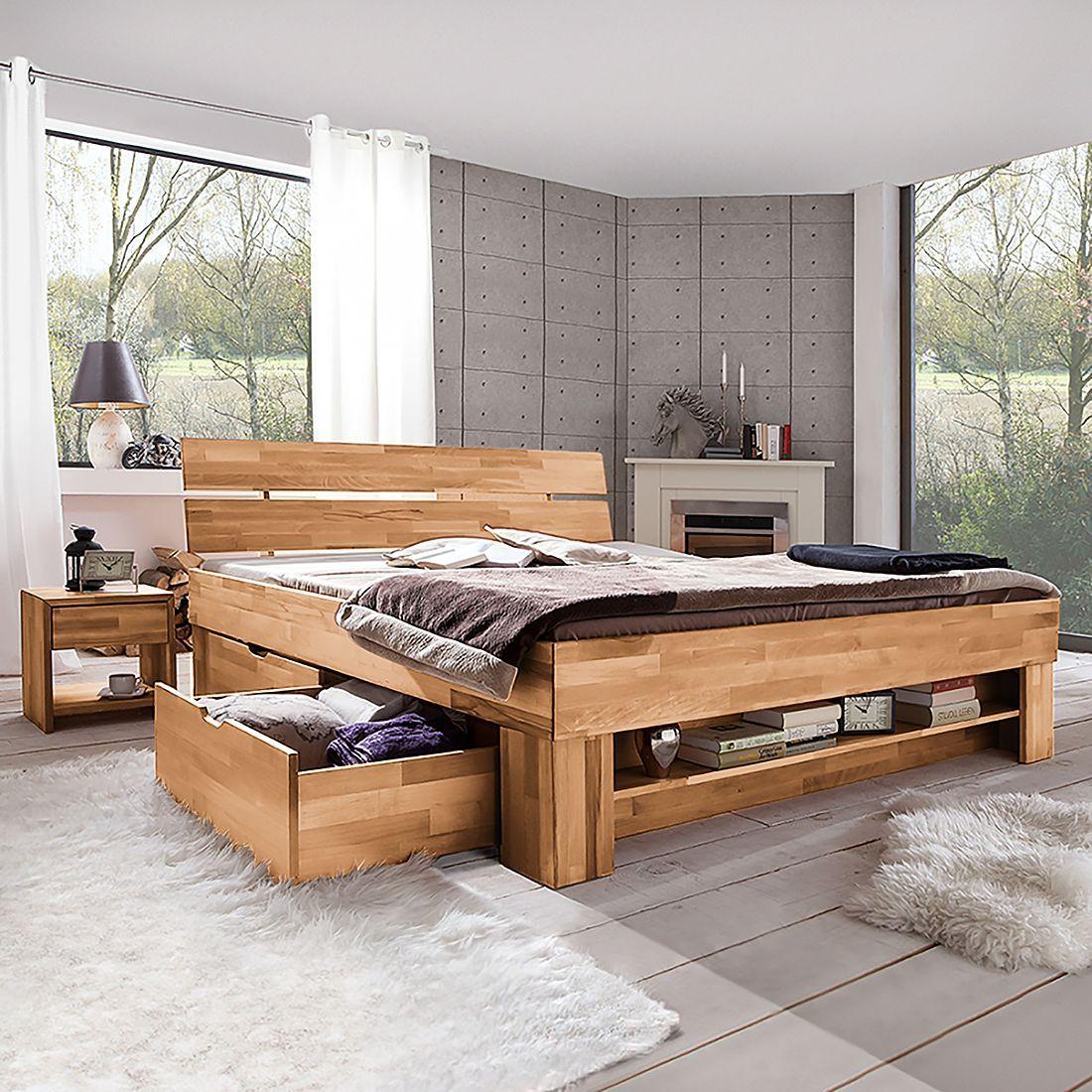 Massivholzbett Tollow Wohnen, Bett und Schlafzimmer set