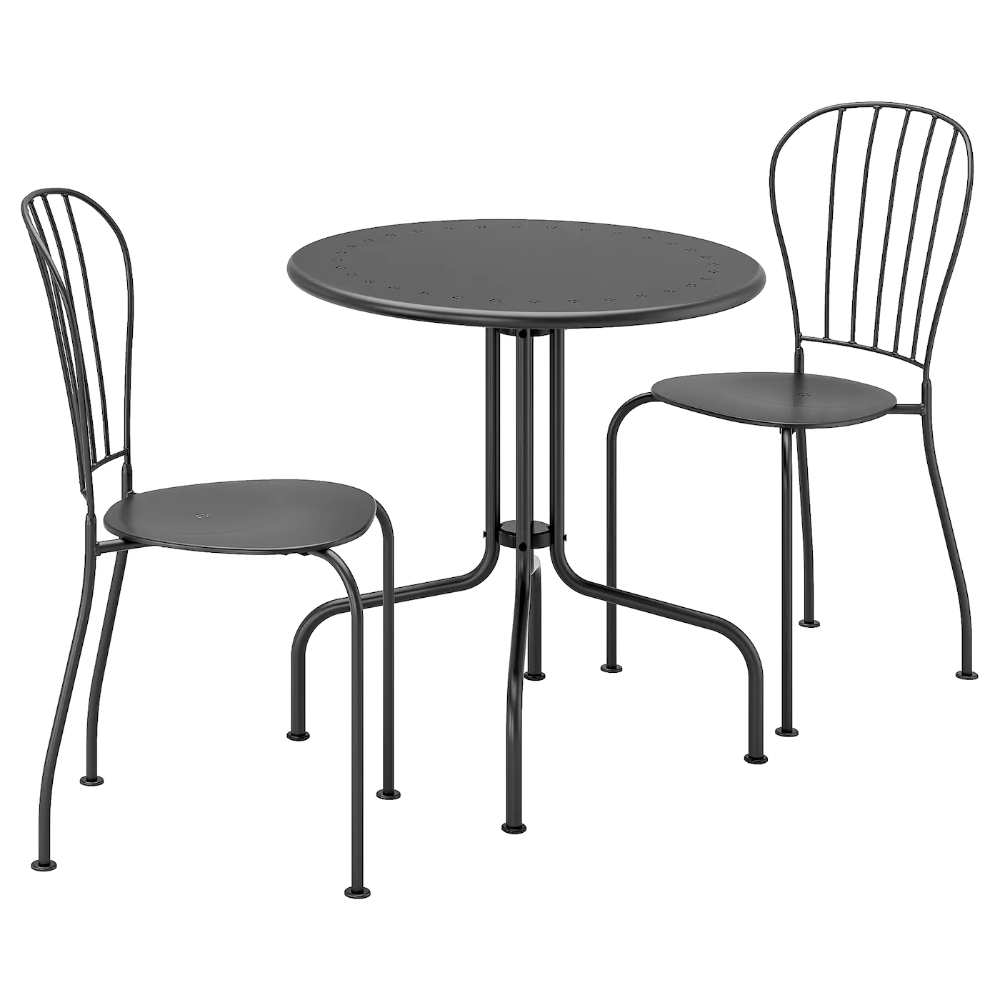 Lacko Table 2 Chairs Outdoor Gray Ikea Outdoor Folding Chairs Outdoor Dining Furniture Outdoor Table Tops