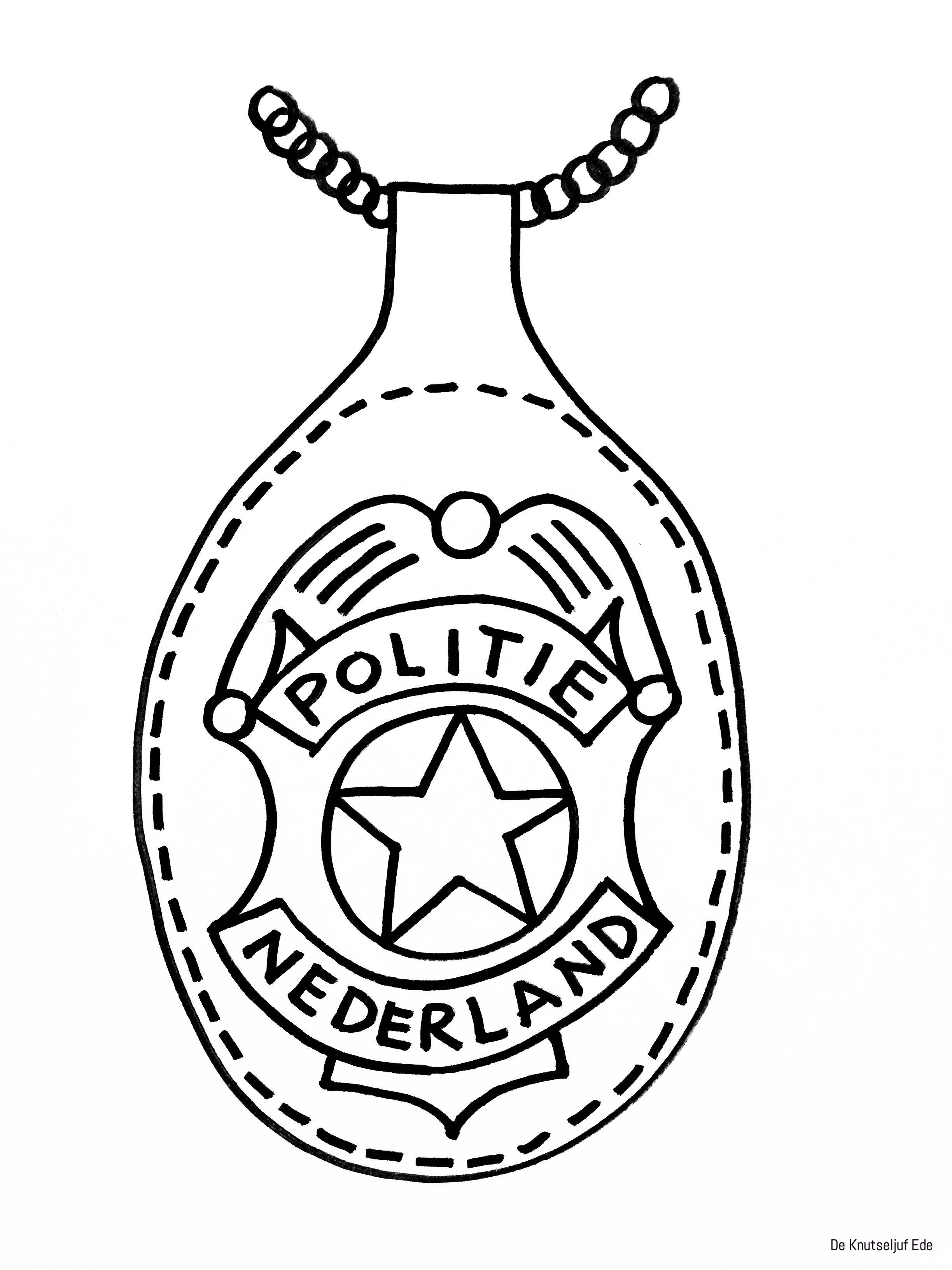 Thema Politie Knutselen Politie Badge Zelf Maken Knutselen Thema Politie Kinderknutsels Politie Badge Politiebadge Politiefeestje Detective Knutselen
