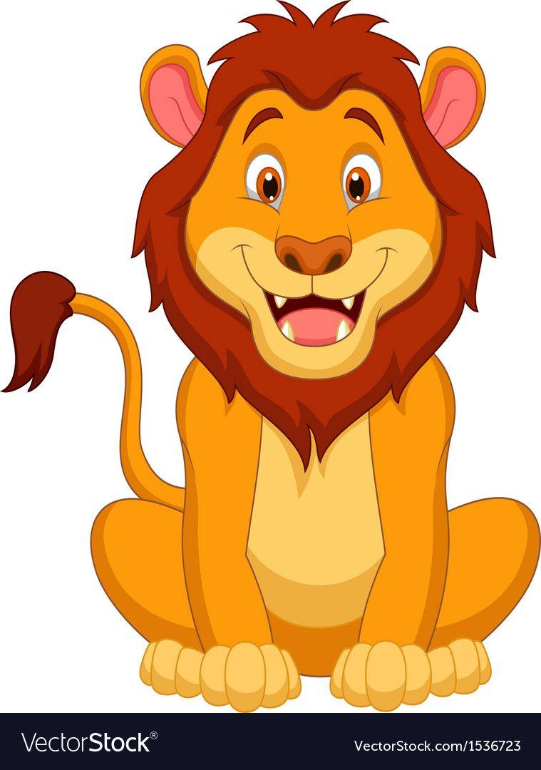 Cute Lion Cartoon Vector Image On Vectorstock Cartoon Lion Cute Lion Cartoons Vector