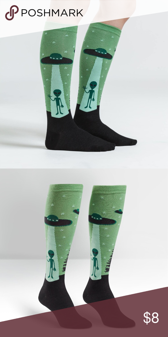 e3f9f1c9c7e Sock it to me I believe aliens knee high socks Super fun pair of womens knee  high novelty socks brought to you from Sock it to Me. Made in the USA