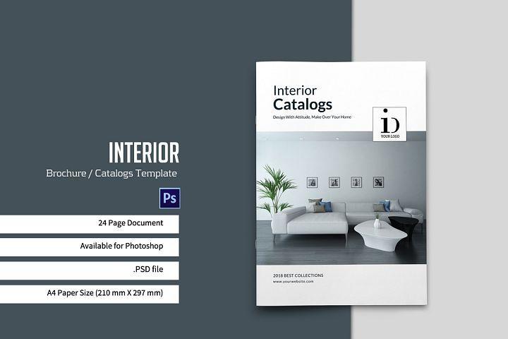 Psd Interior Brochures Catalogs Interior Brochures Catalog Cover Design Company Profile Design Templates