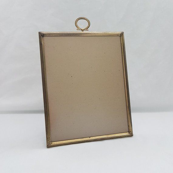2 X 3 Solid Br Oval Picture Frame With Ball Feet Gold Metal Photo Wallet Size Photos Boho Or Modern Decor Mini 5x8 Cm