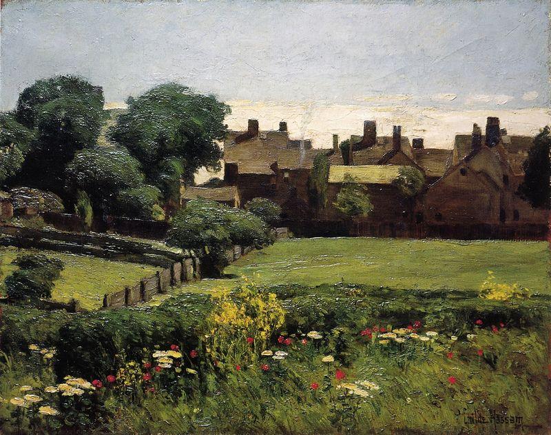 Frederick Childe Hassam - Village Scene