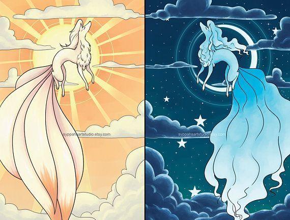 Set de impresión Sun and Moon - Duo de impresión estándar y Alolan Ninetales - Dos impresiones de arte digital de 11x17 - Ninetales y Alolan Ninetales – Pokémon Sun y Moon Fanart Print Duo en Etsy Imágenes efectivas qu - #11x17 #Alolan #arte #Batman #digital #DoctorWho #dos #Duo #estándar #impresión #impresiones #MarvelComics #Moon #Ninetales #Pokemon #Set #Sherlock #StarTrek #Sun