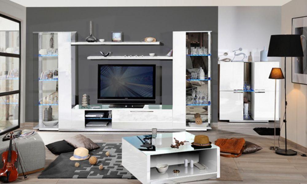 Inspirant Meuble Tv Blanc Avec Rangement