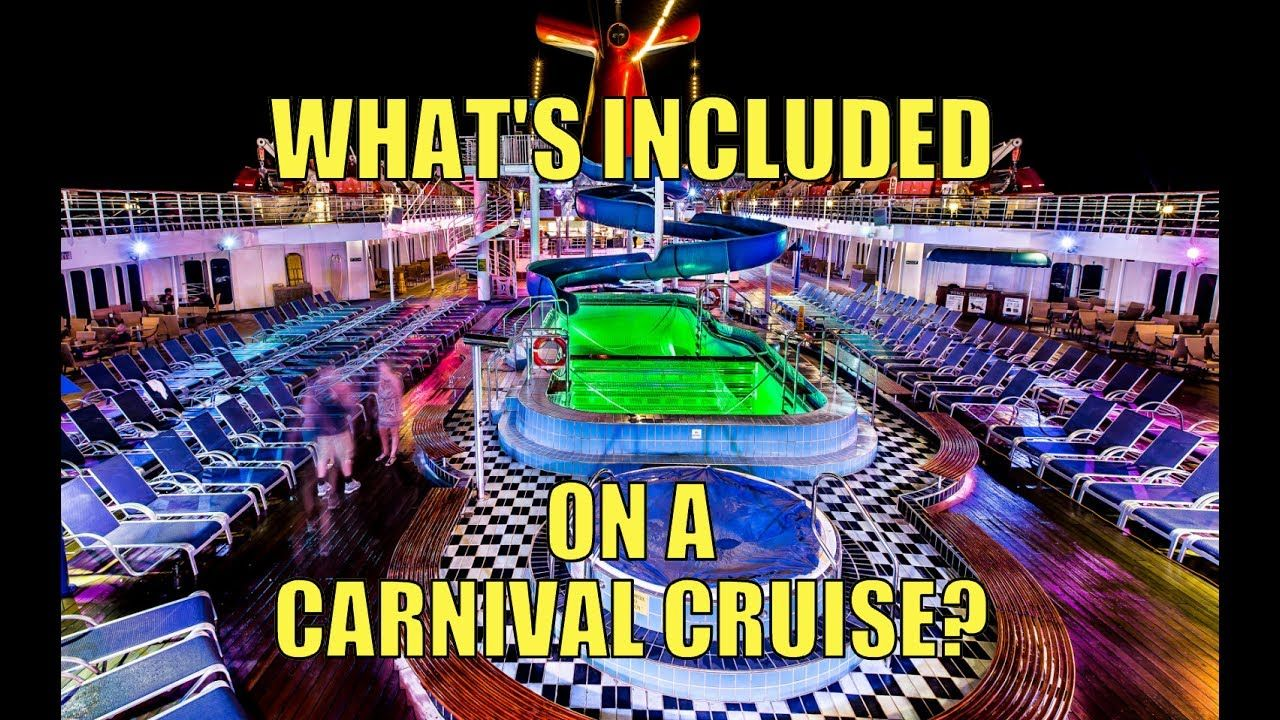 what s included on a carnival cruise other faq youtube