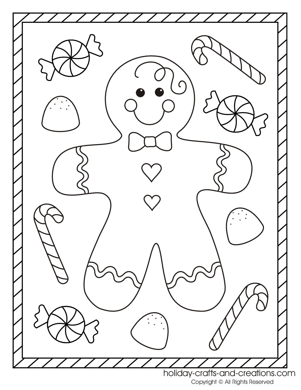 Tibiscuit Colorier Christmas Pinterest Gingerbread Crafts
