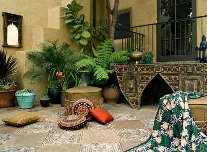 terraza con mosaicos arabes