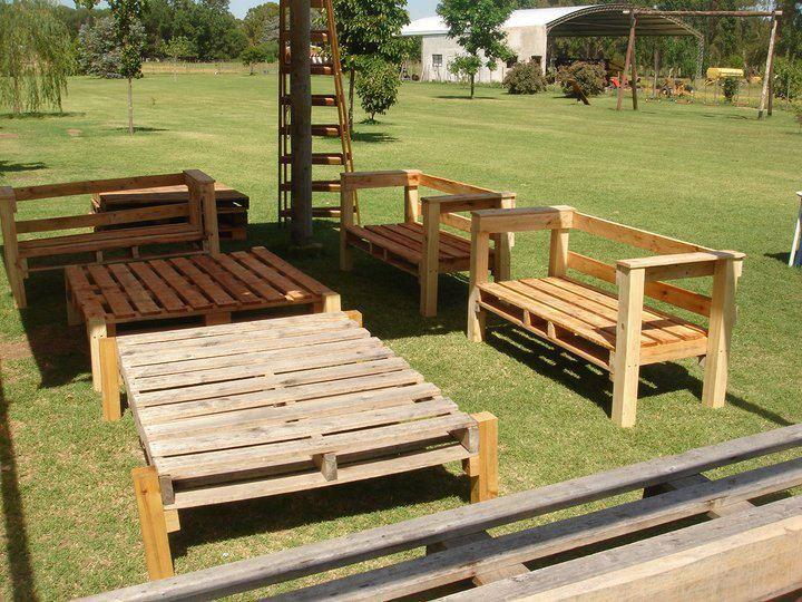Muebles de jard n hechos con palets diy outdoors - Muebles de jardin hechos con palets ...