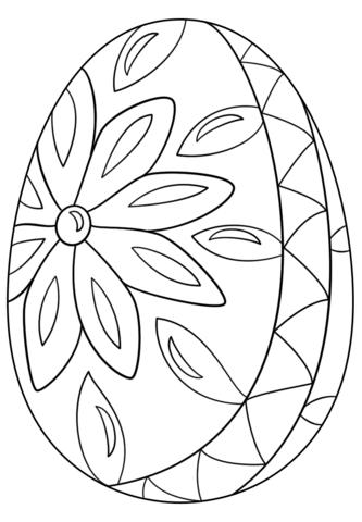 Decorative Easter Egg Dibujo para colorear. Categorías: Huevos de ...