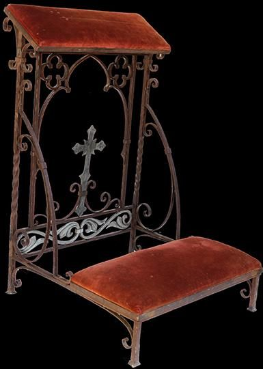 Groovy Wrought Iron Kneeler Prie Dieu Photo In 2019 Antique Ibusinesslaw Wood Chair Design Ideas Ibusinesslaworg