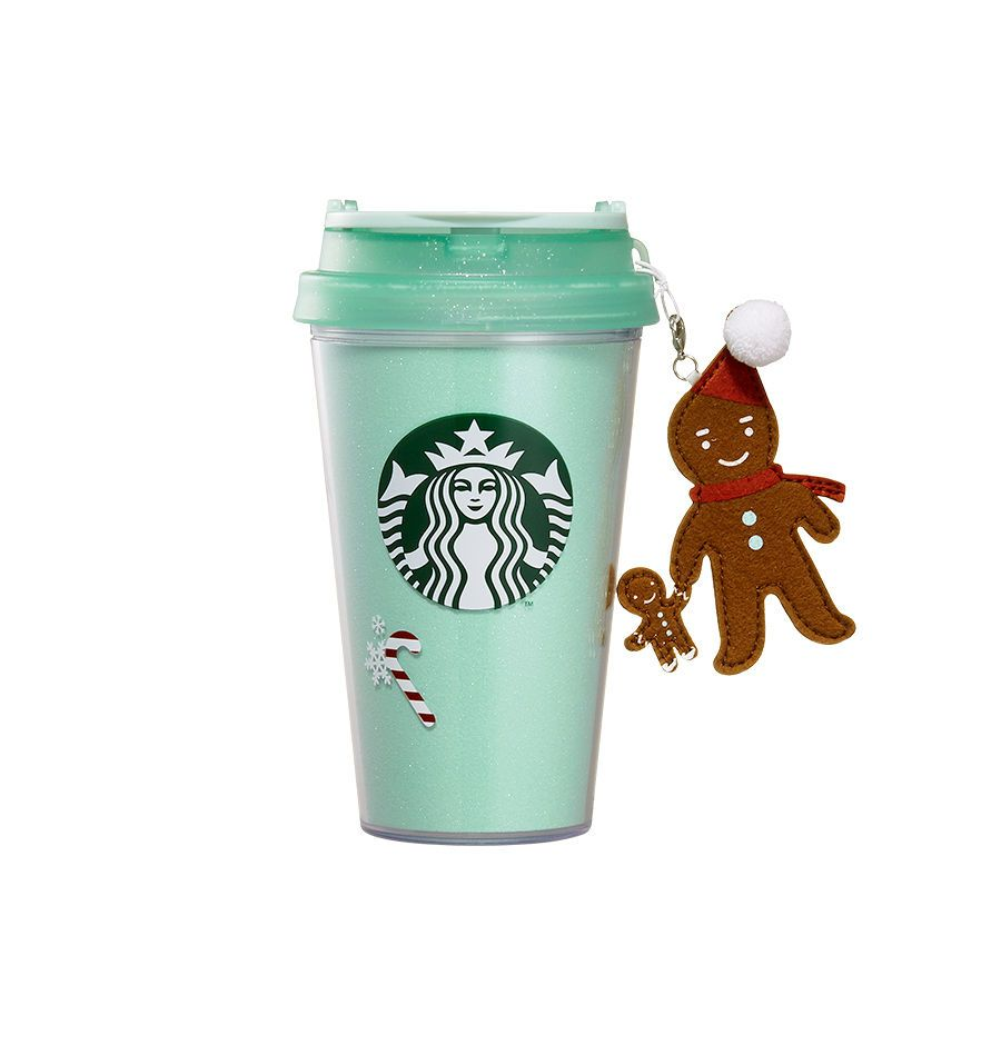 35fb3972b7a Starbucks korea, 2015 christmas seasonal, charm gingerman tumbler ...