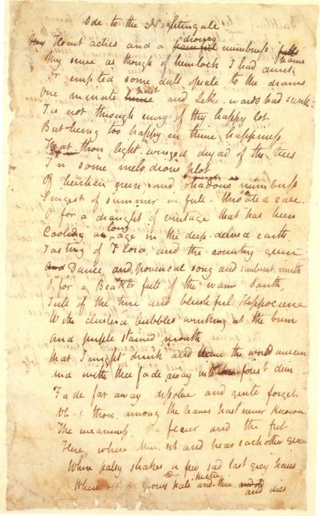 ode to the nightingale by john keats keats   ode to the nightingale by john keats