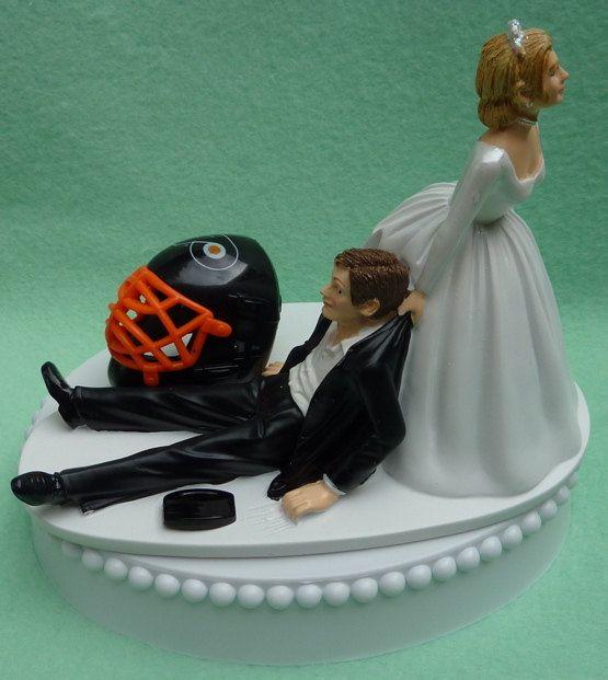 Wedding Gifts Chicago: Wedding Cake Topper Philadelphia Flyers Hockey Themed W