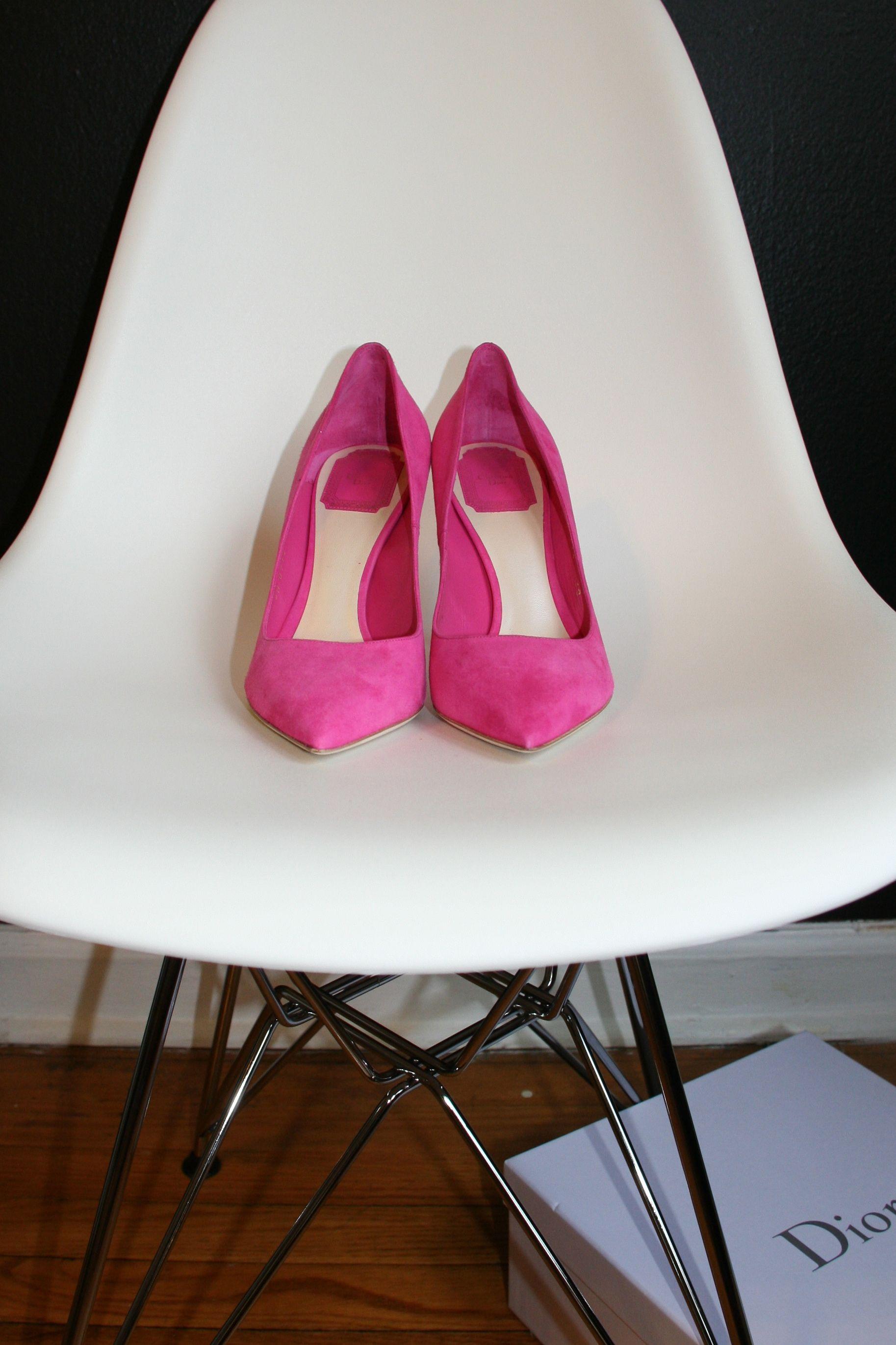 Pink Dior Suede