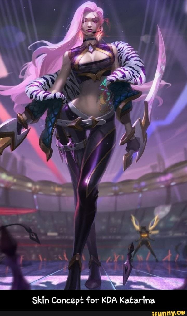 , Skin Concept for KDA Katarina – Skin Concept for KDA Katarina  popular memes on the site iFunny.co #leagueoflegends #gaming #leagueoflegends, My Pop Star Kda Blog, My Pop Star Kda Blog